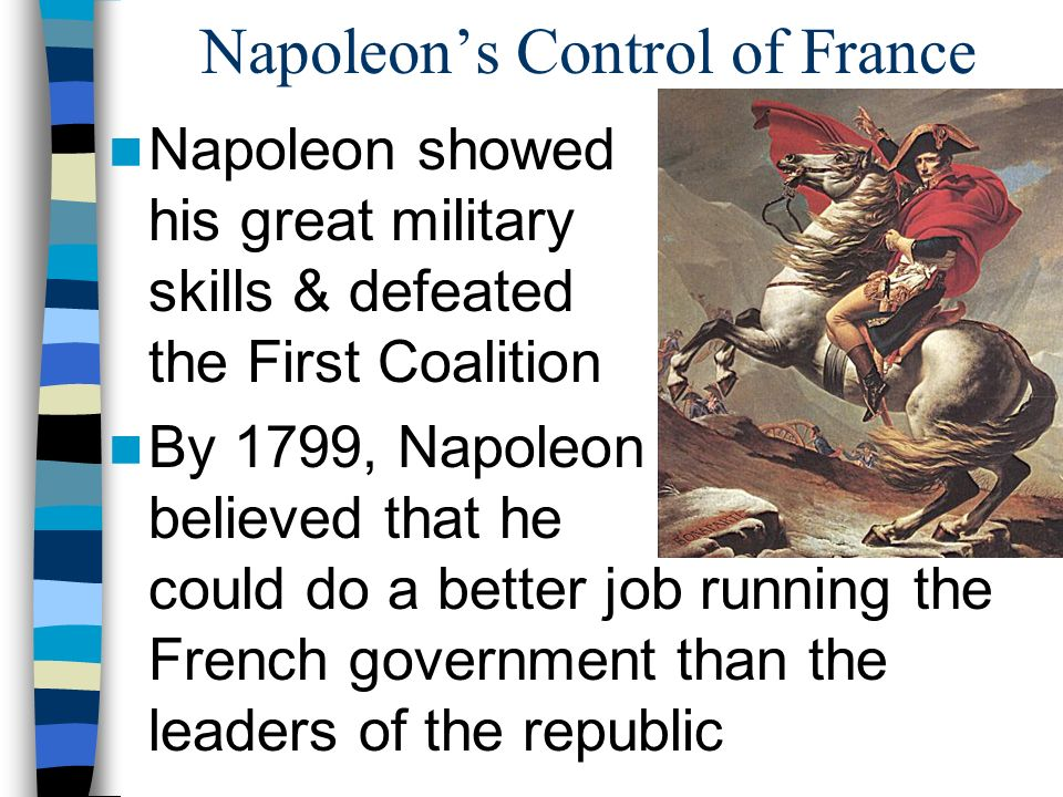 an analysis of napoleon a good leader for france The remains of napoleon bonaparte are in a massive sarcophagus in the of les invalides in paris built in 1670 by king louis xvi as a church, les invalides is a museum and burial place for military heroes it seemed very appropriate that they interred napoleon there tens of thousands of visitors.