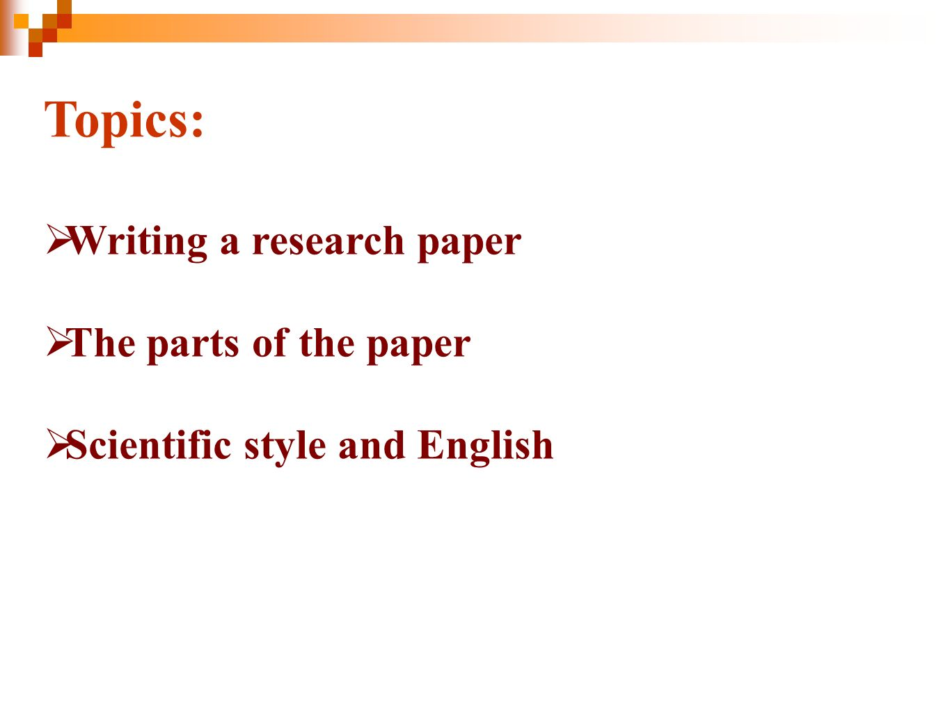 writing scientific papers in english In this section of the mooc, you will learn what is necessary before writing a paper: the context in which the scientist is publishing you will learn how to know your own community, through different exemples, and then we will present you how scientific journal and publication works.
