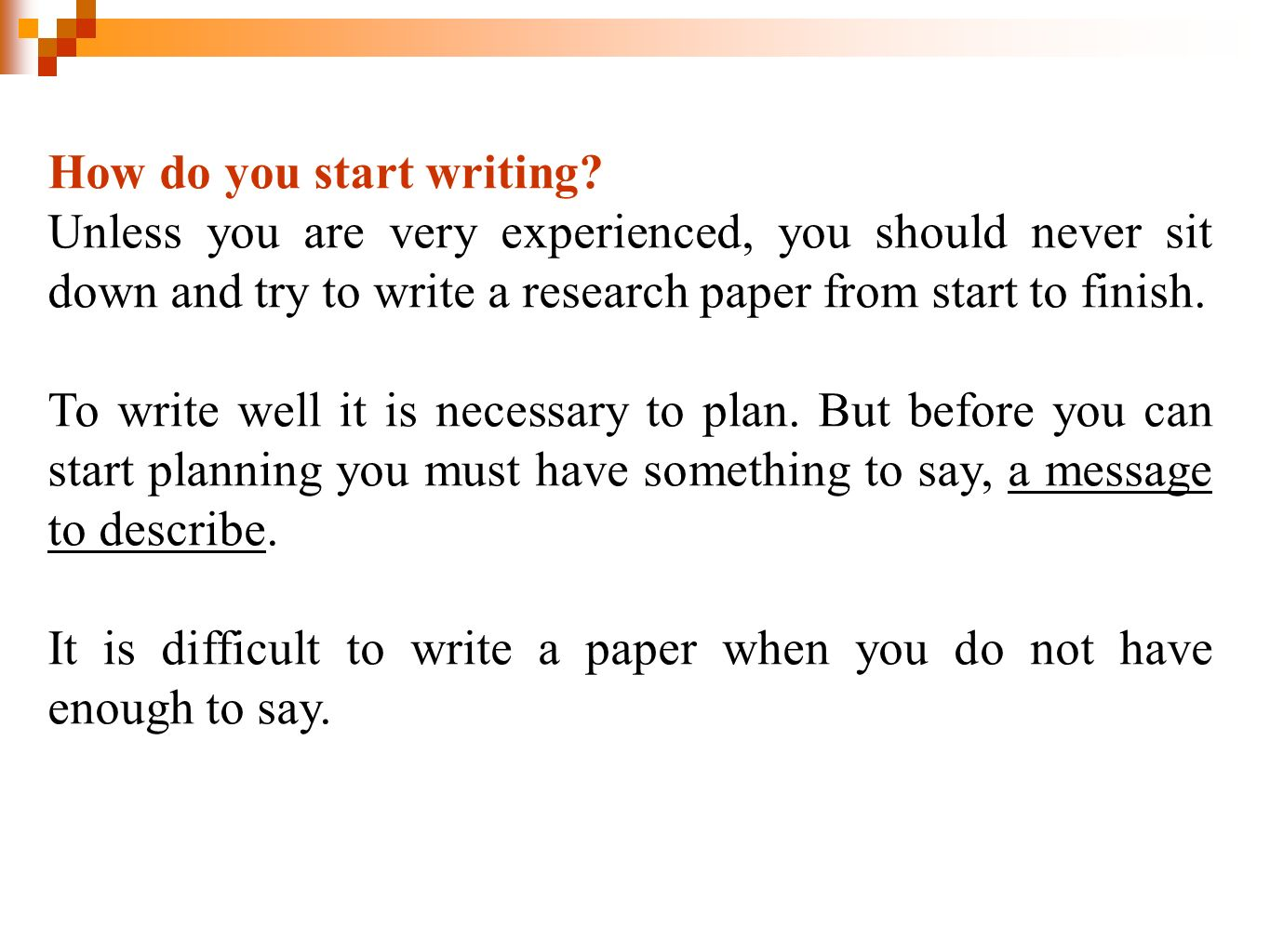 do you have to write a thesis for undergraduate The thesis statement is the brief articulation of your paper's central argument and purpose you might hear it referred to as simply a thesis every scholarly paper should have a thesis statement, and strong thesis statements are concise, specific, and arguable.