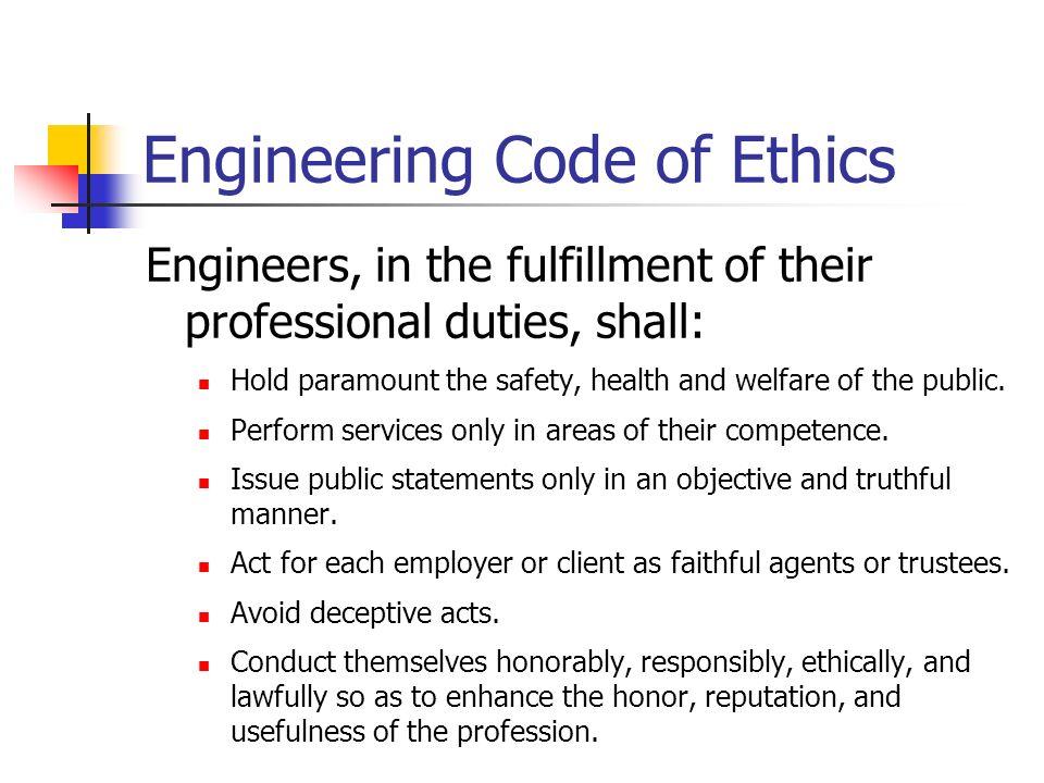 code of ethics engineering