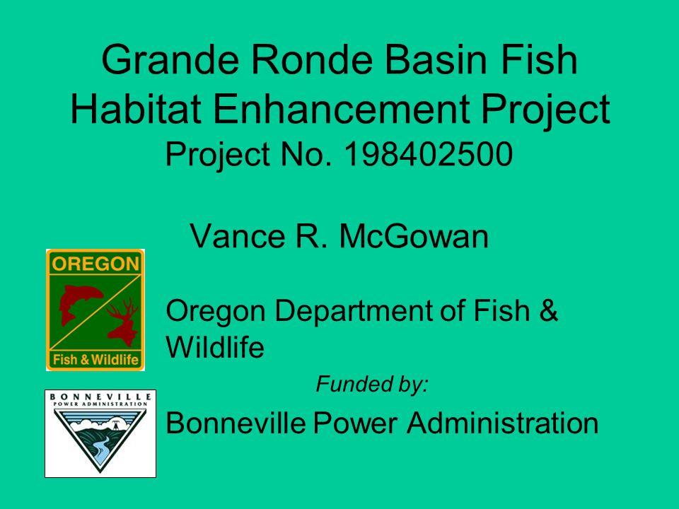 Grande Ronde Basin Fish Habitat Enhancement Project Project No