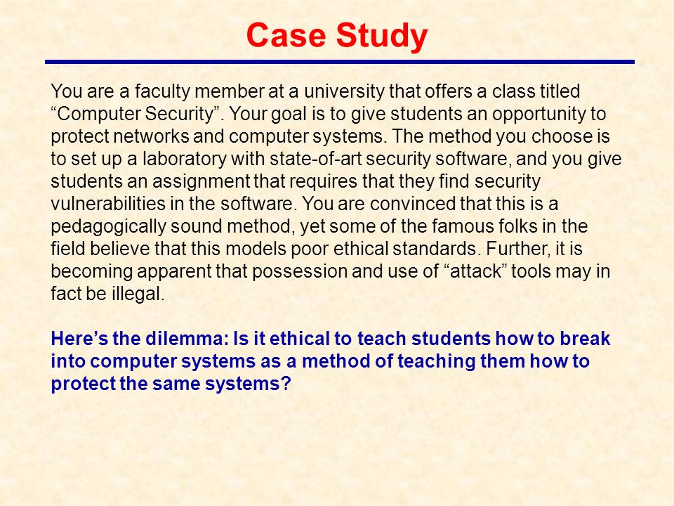 how to set up a case study