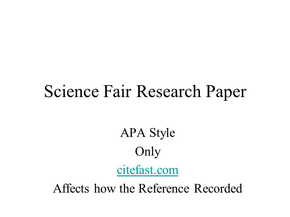 Science research papers