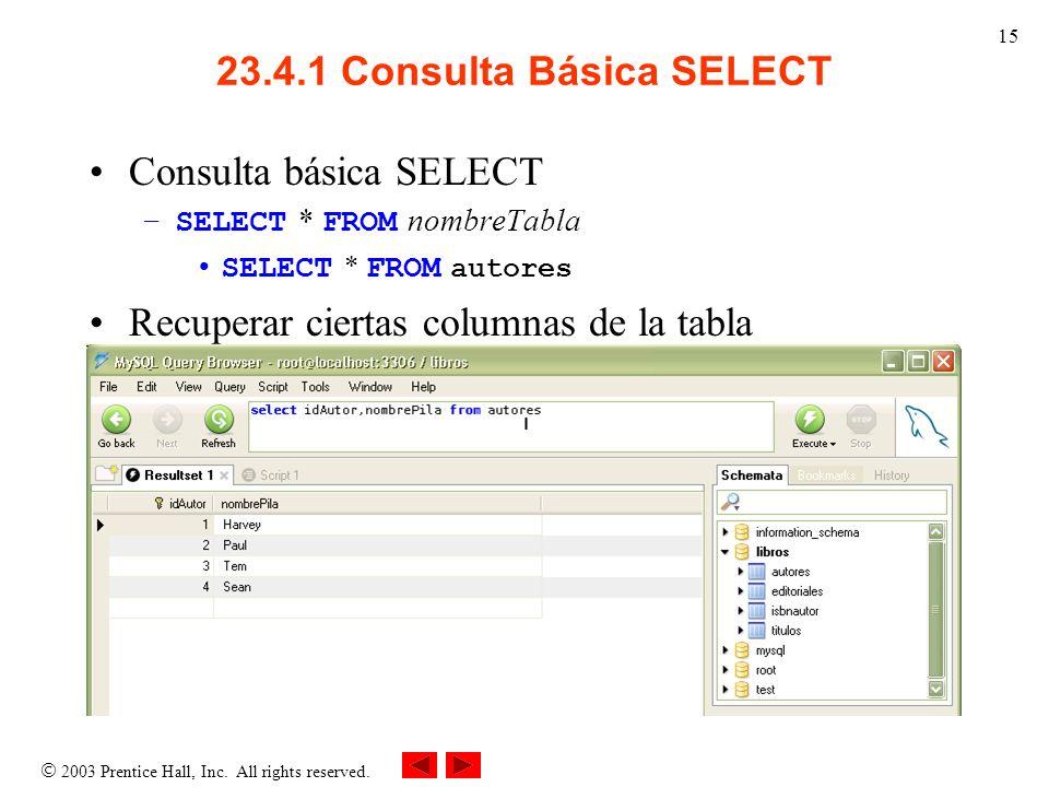 23.4.1 Consulta Básica SELECT