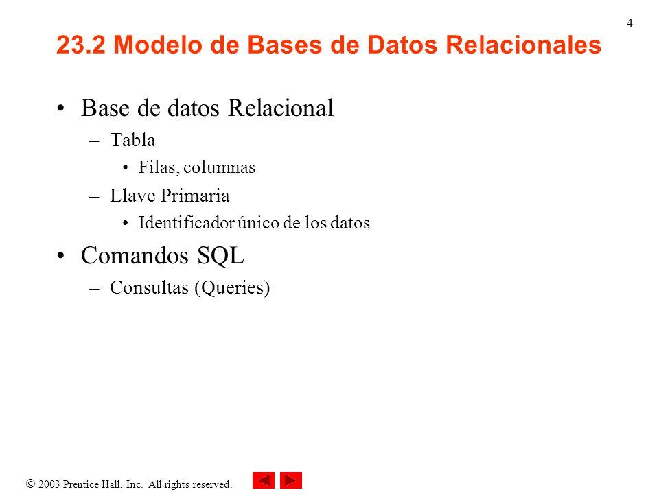 23.2 Modelo de Bases de Datos Relacionales