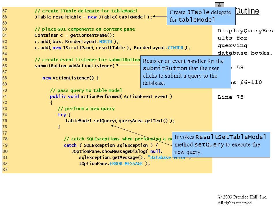 Create JTable delegate for tableModel