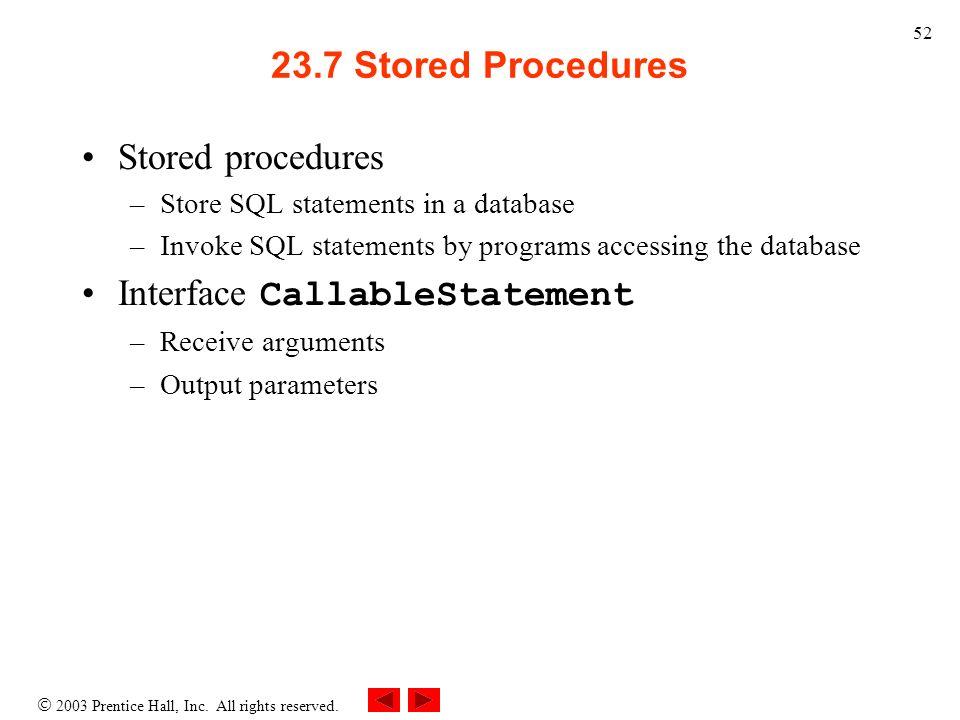 Interface CallableStatement