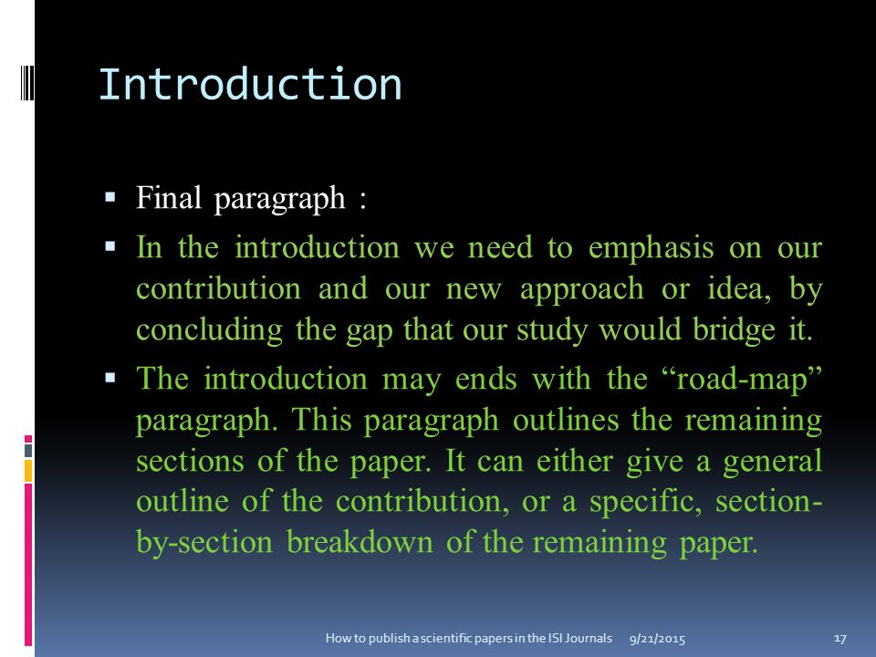 how to write a final paragraph