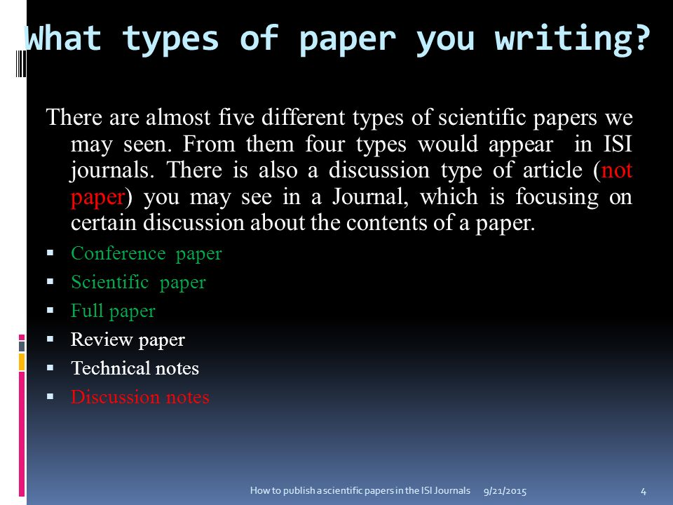 types of research papers review Paper by considering the following sugg ested points: (1) main contributions (2) positive aspects and (3) negative aspects in particular, you are encouraged to substantiate negative comments.