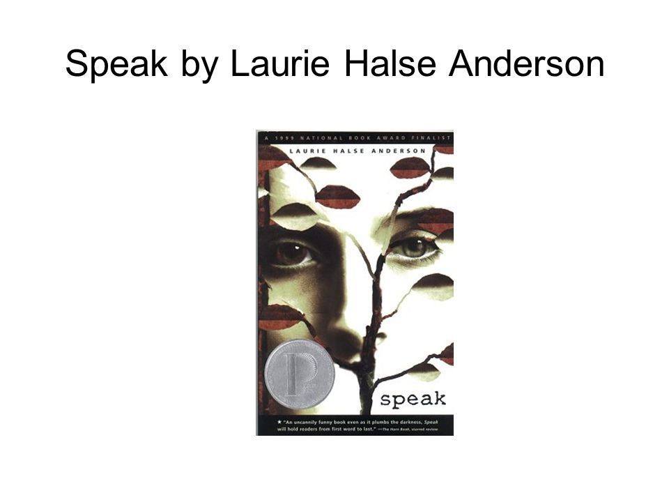speak by laurie halse anderson essay prompts Requirement #1: write responses to both prompts below  speak laurie halse  anderson shooting star fredrick l mckissack jr code talker: a novel about.