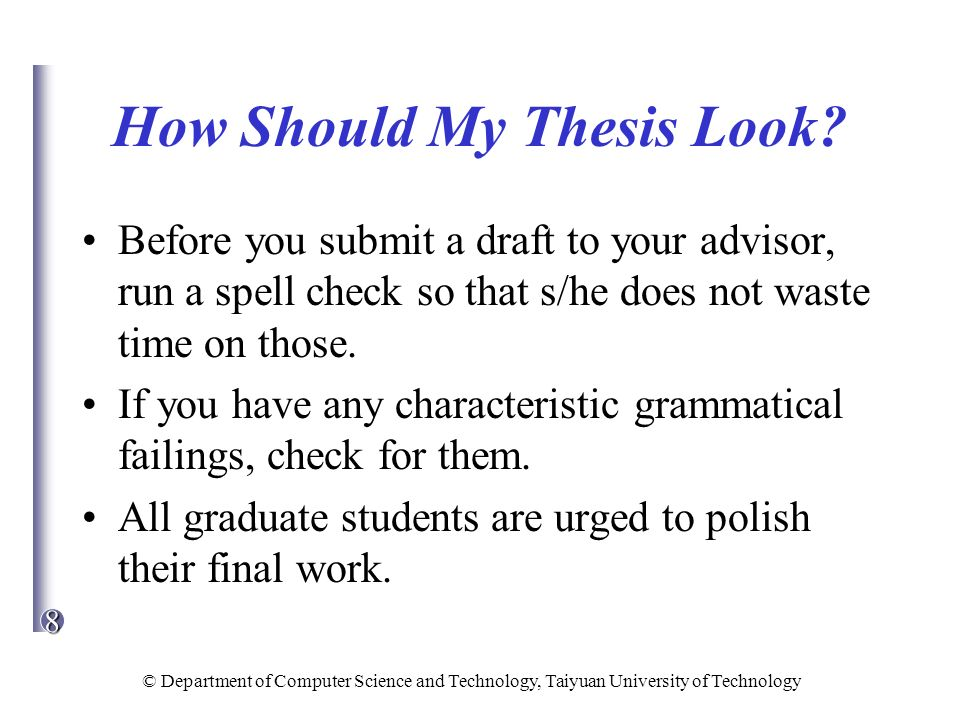 check my thesis