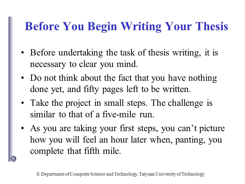 writing your thesis in 15 minutes a day
