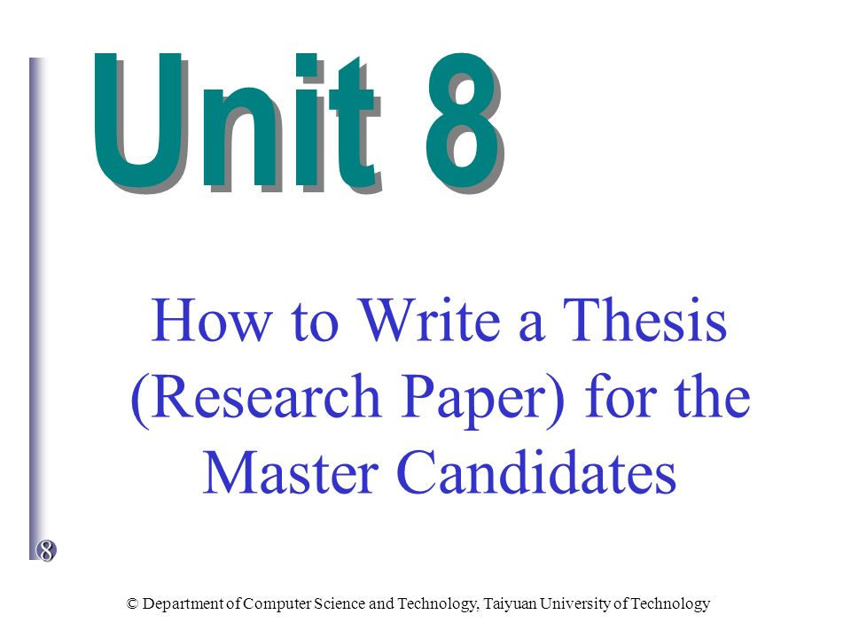 how to write a technical research paper The ultimate guide to writing perfect research papers, essays, dissertations or even a thesis avoid subjects that are too technical, learned, or specialized.