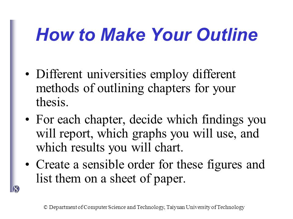 different chapters of a thesis In order to answer the problem statement, different sub questions are formulated which are answered by this thesis in the different chapters by using secondary resources.