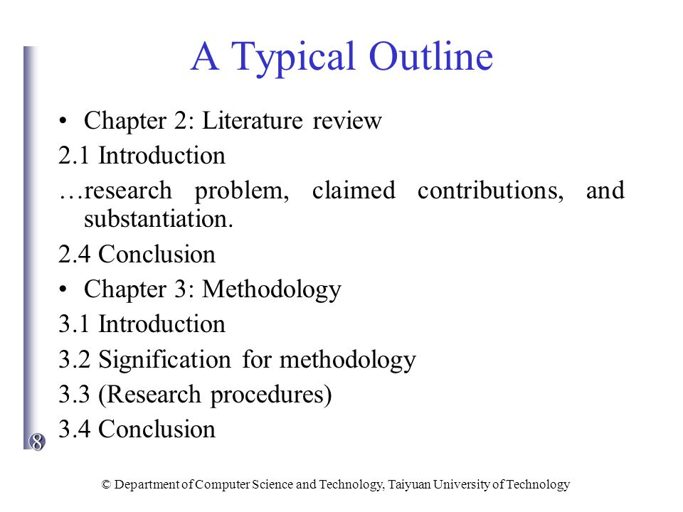 chapter 2 outline and key terms Basic outlining format guide for chapter outlines title of the chapter i topic of first main section of the chapter (include definitions, explanations, details and page numbers).