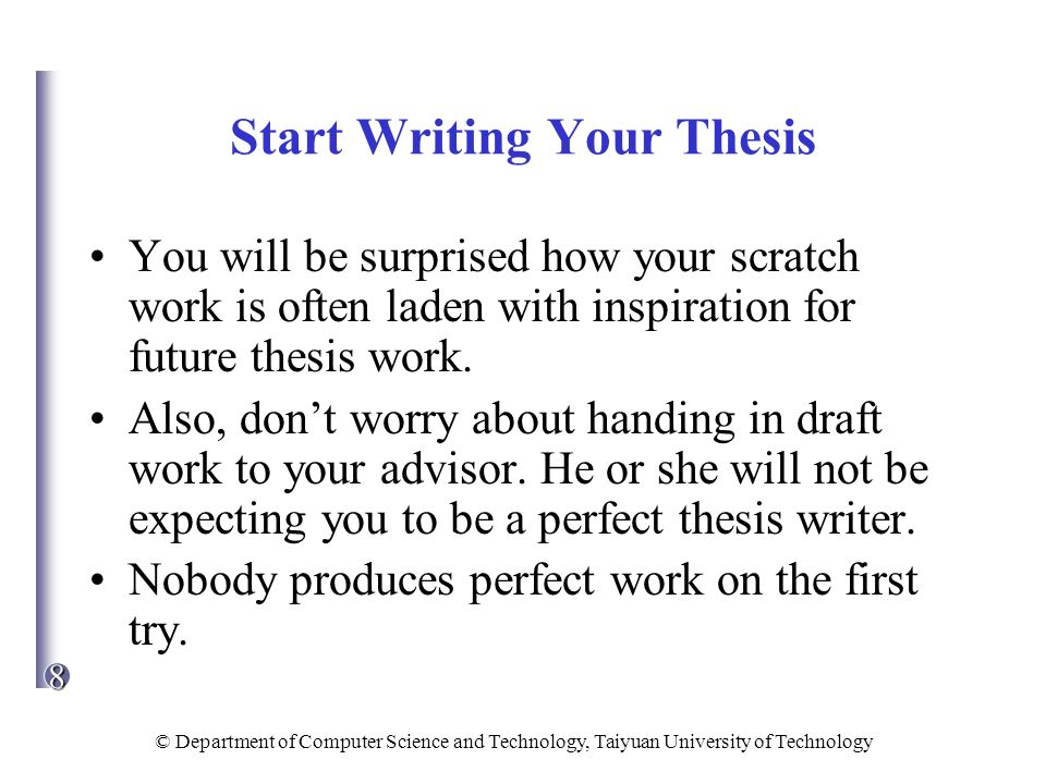 how to write a history dissertation To the candidate: so, you are preparing to write a phd dissertation in an experimental area of computer science unless you have written many formal documents before, you are in for a surprise: it's difficult.