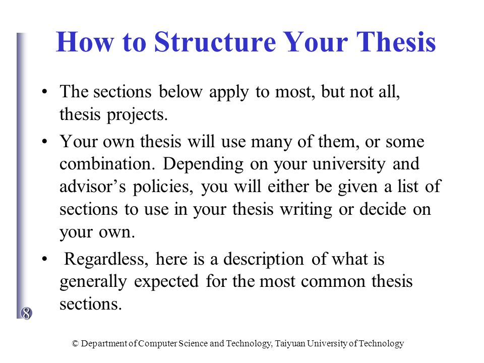 thesis sections