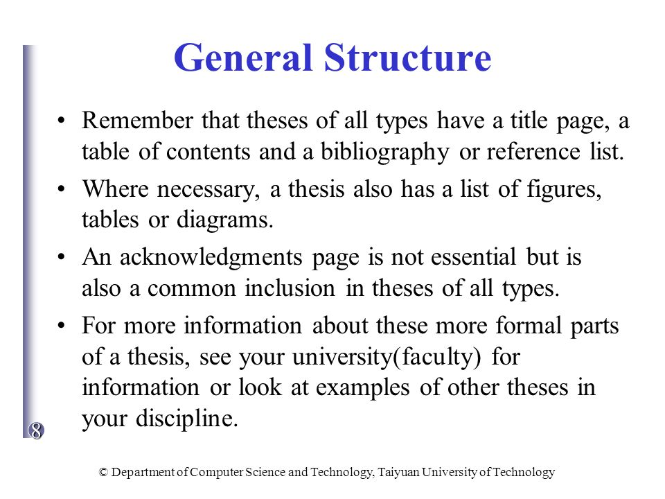 list of tables master thesis ppt