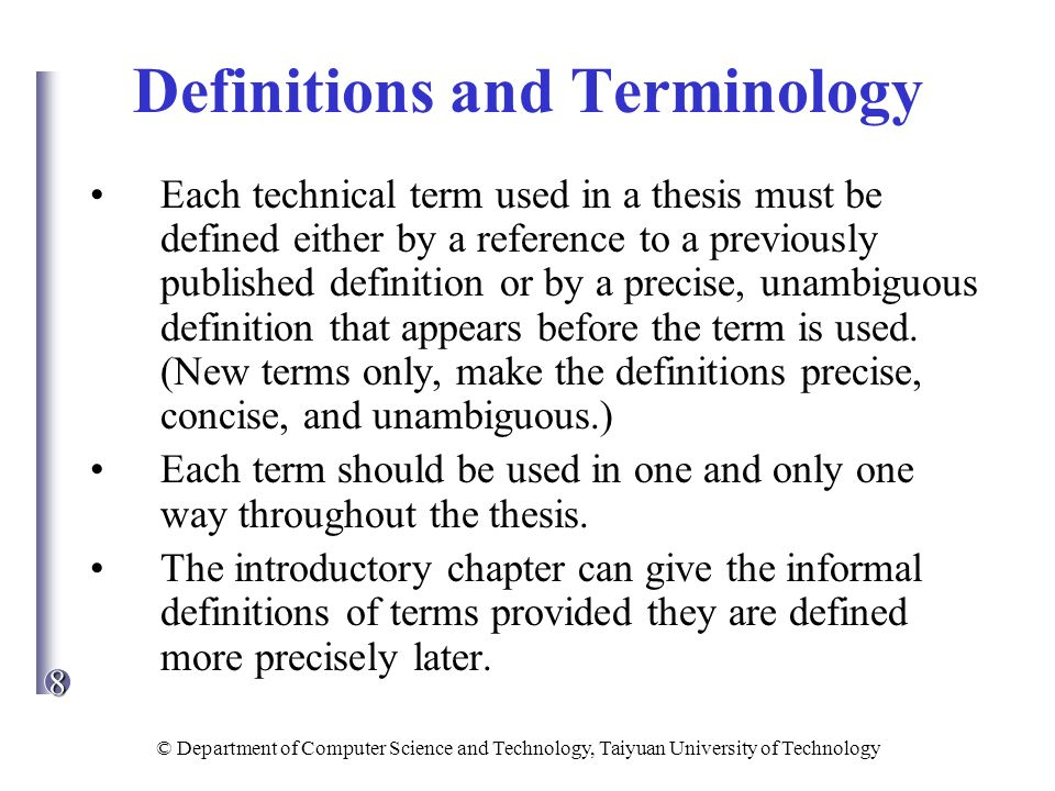 an introduction of companies and a definition of terms