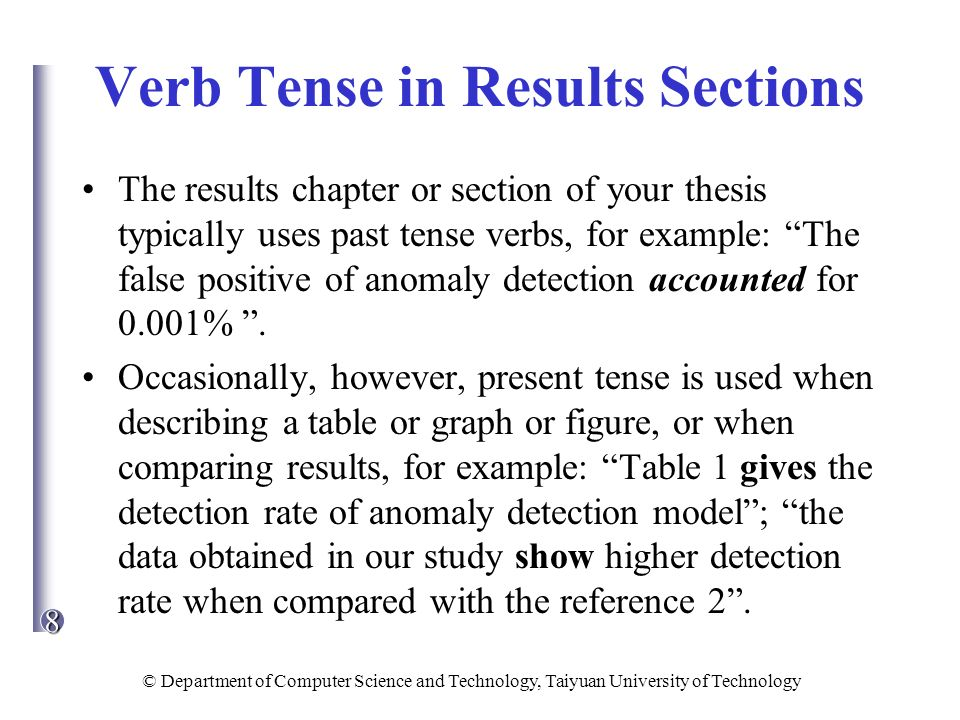 the past tense system in and publish your
