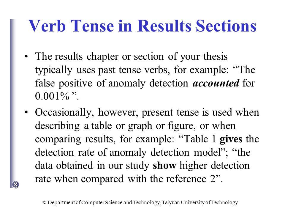 thesis tense
