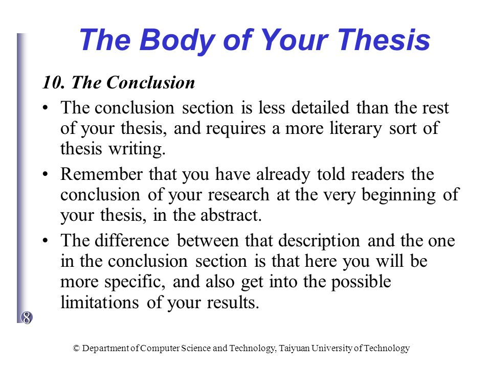 difference between abstract and conclusion thesis