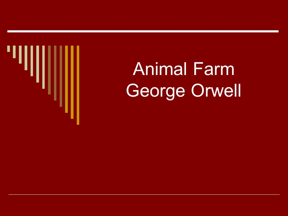 an analysis of animal farm by george orwell as political satire How is marxism portrayed in 'animal farm' by george orwell essay sample the main aim of marxism is to bring about a classless society, and 'animal farm' is.