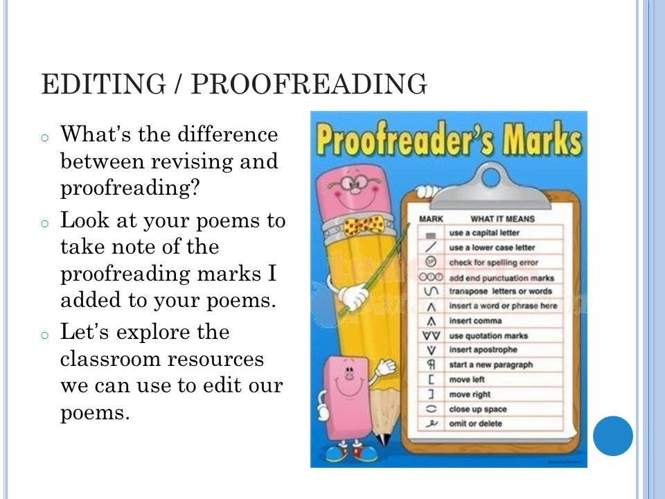 Online proofreading and editing revising