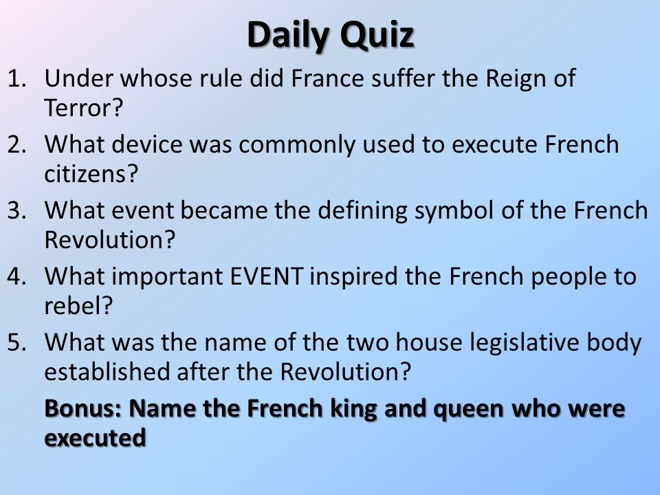 What were the prominent characteristics of the French Revolution?