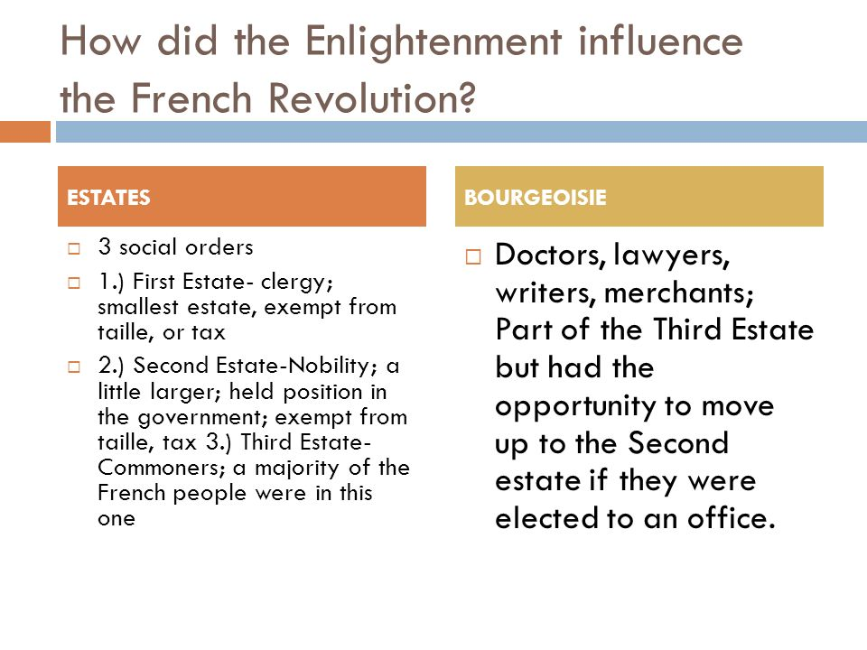 to what extent did the enlightenment cause the french revolution The french revolution had a major impact on europe and the new world  historians widely  the long-term impact on france was profound, shaping  politics, society, religion and ideas, and polarizing politics for more than a century   the enlightenment ideals and the initiation of the french revolution were  enough to.