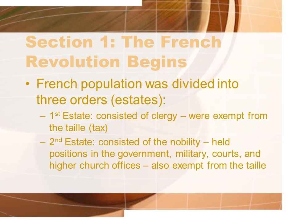 Section 1: The French Revolution Begins