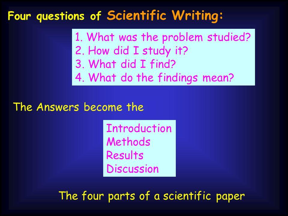write a scientific method paper