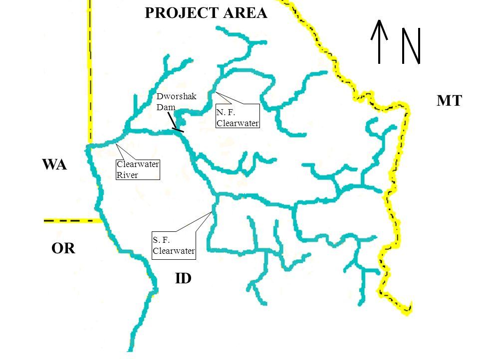 PROJECT AREA MT WA OR ID Dworshak Dam N. F. Clearwater