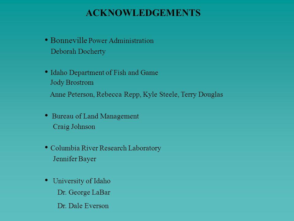 • Bonneville Power Administration