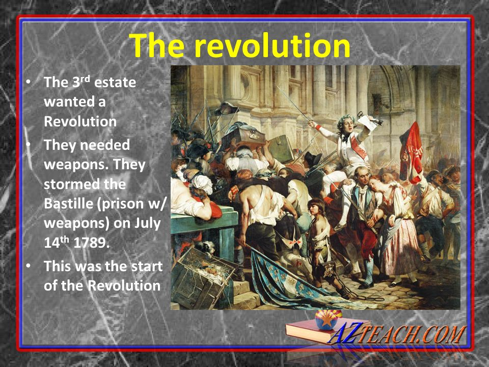The revolution The 3rd estate wanted a Revolution