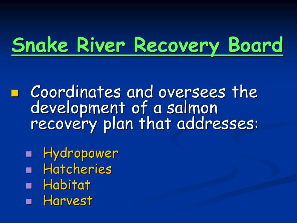 Snake River Recovery Board