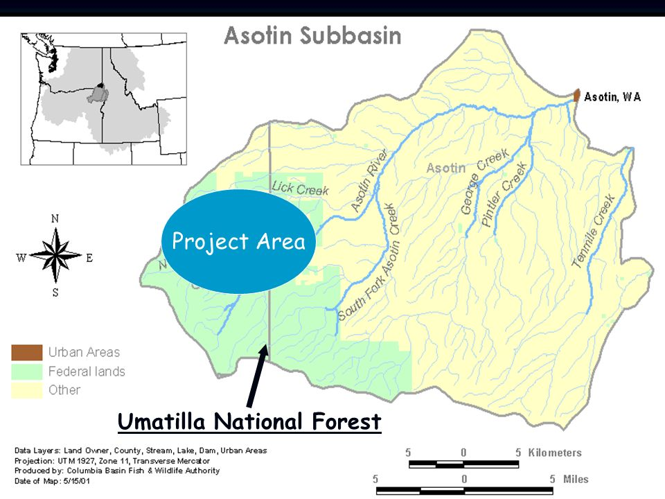 Project Area Umatilla National Forest