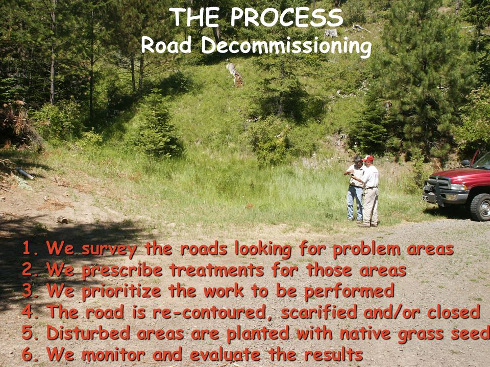 THE PROCESS Road Decommissioning
