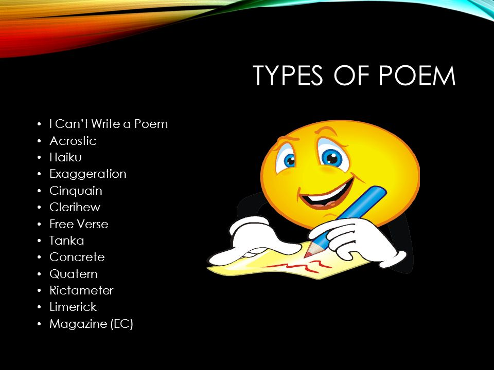 how to write the title of a poem