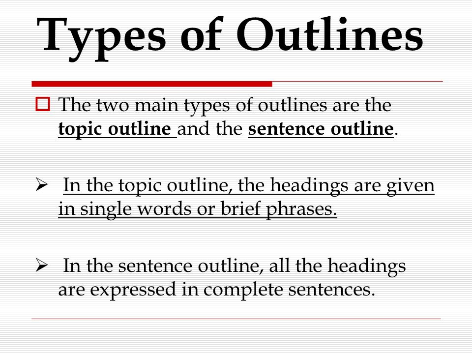 complete sentence outline essay Full-sentence outline format  a that means each section of the outline is a complete sentence  this outline is often used when preparing an essay or a speech.