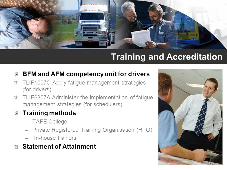 Training and Accreditation
