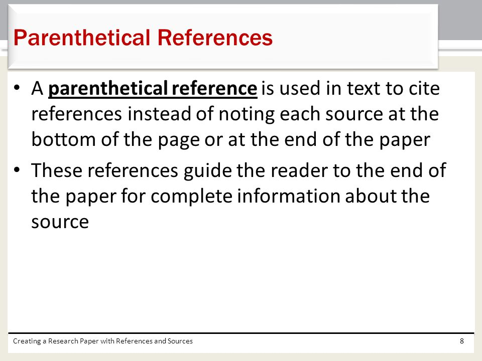 Parenthetical References