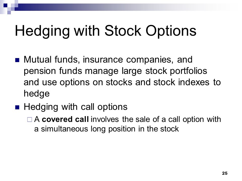 How to hedge stock options