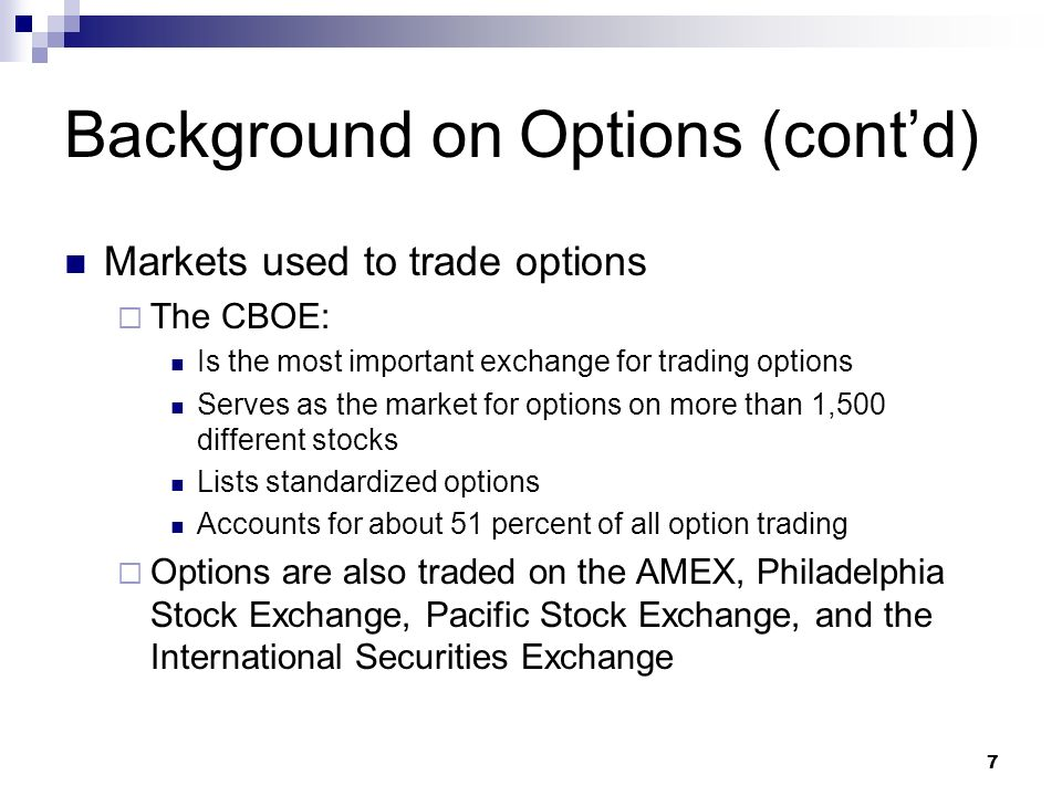 List of stocks that trade options