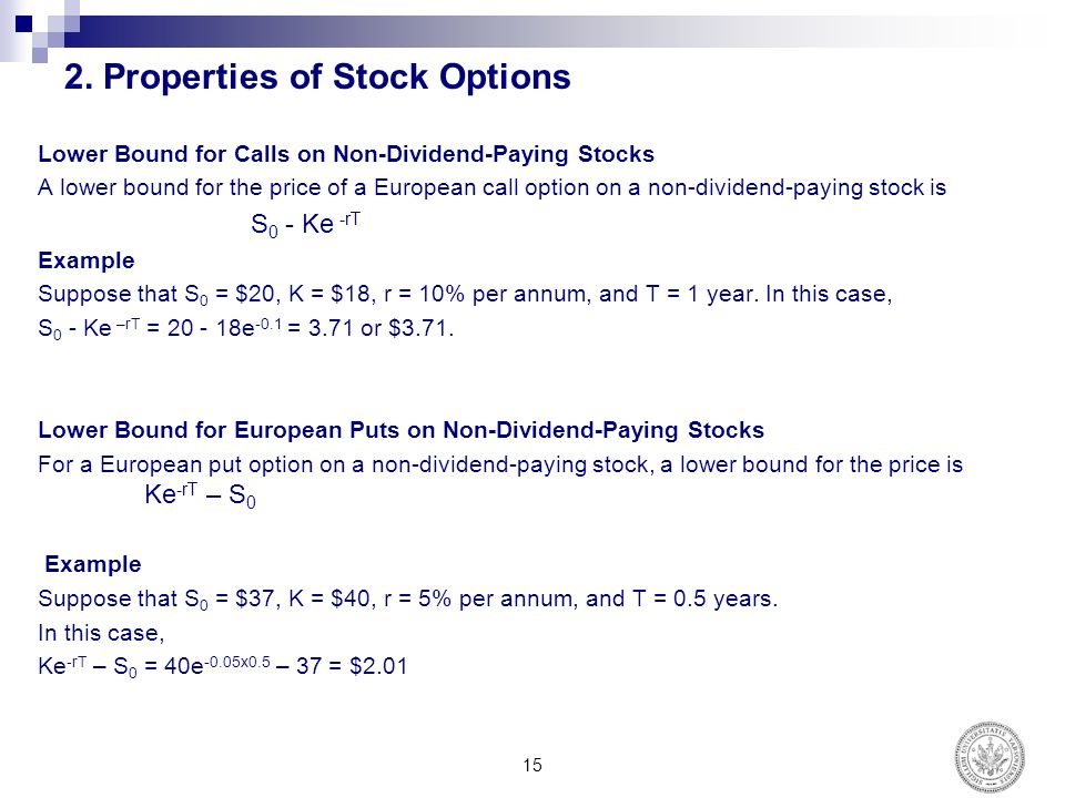 Stock options subscription price