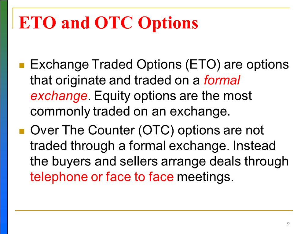 What is exchange traded options