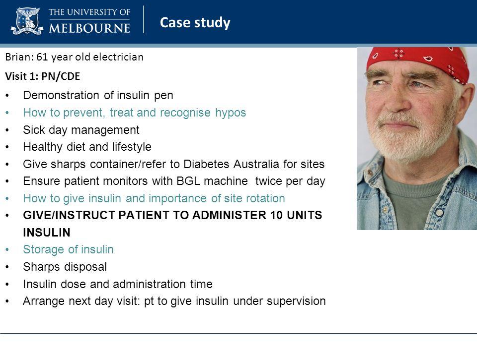 Case study � patient with type 1 diabetes