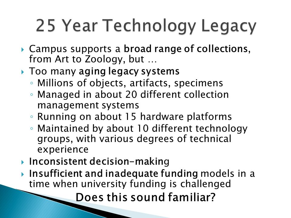 25 Year Technology Legacy