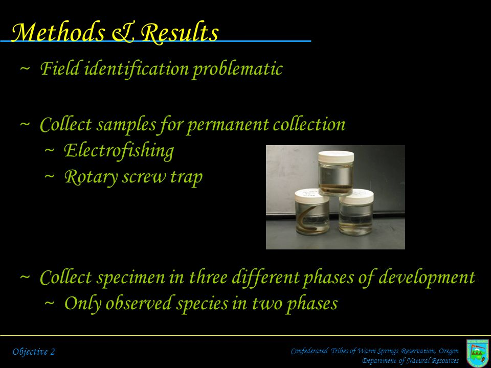 Methods & Results Field identification problematic