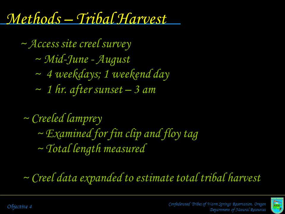 Methods – Tribal Harvest